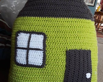 Crochet House Pillow