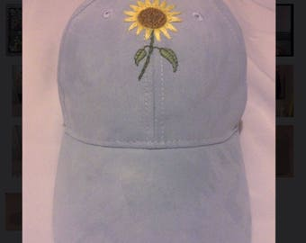 Embroidered Sunflower Cap