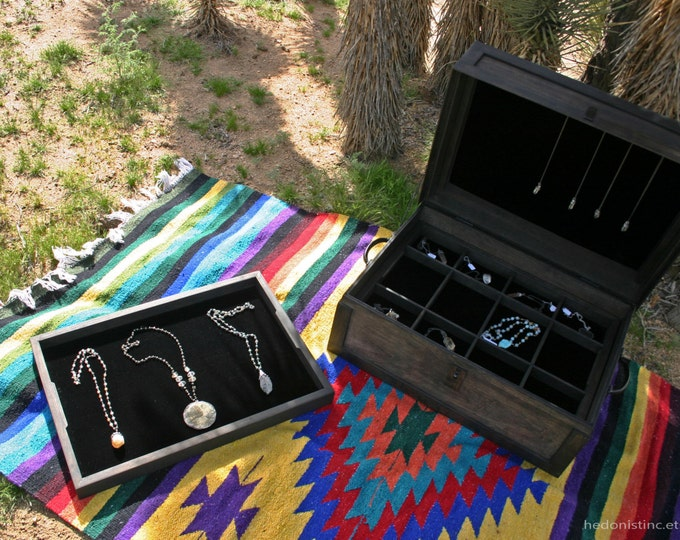 Steamer Trunk Jewelry Display Case // Handmade Traveling Salesman Trunk Show Display