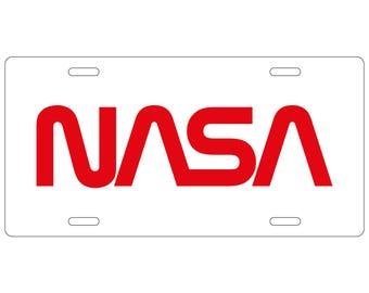 NASA Worm Logo License Plate