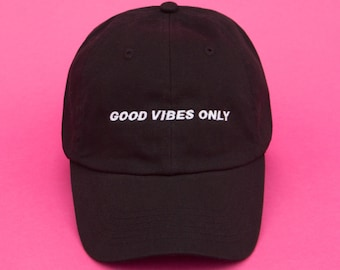 Vaporwave, Dad Hat, Aesthetic Clothing, Good Vibes Only, Instagram Dad Hat, Aesthetic, Embroidered, Baseball Cap, Tumblr Aesthetic, Grunge