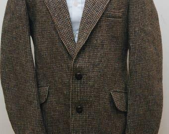 Grendale Mens Harris Tweed Jacket, Size 42 in chest