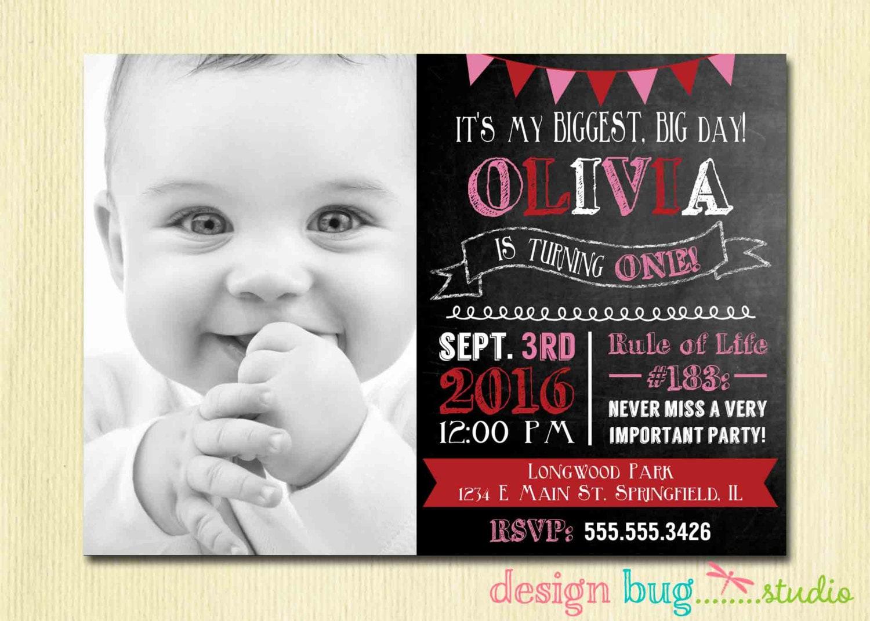 Olivia the pig inspired chalkboard birthday invitation red zoom stopboris Choice Image