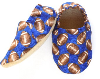 Football Baby Boy Shoes, Football Baby Booties, Baby Soft Shoes, Slip On Baby Shoes, Football Baby Boy Gift