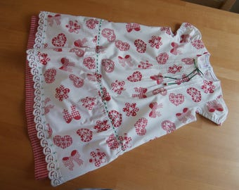Summer dress - girl - toddler - red and white