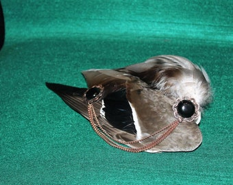 Gothic Fantasy Steampunk hair piece wing. Approx. 29 cm long. Haarklips. Who dares, just different than others.