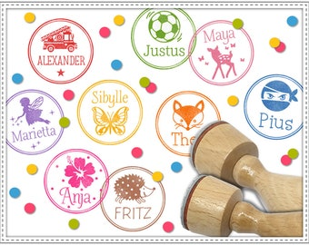 Customized rubber stamp NAME + IMAGE