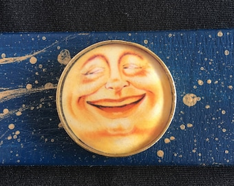 Man in the moon leather cuff
