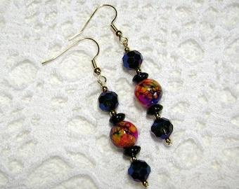 Artsy Earrings - Bright Blue Earrings - Earrings - Bright And Shiney - Jewelry - E-193