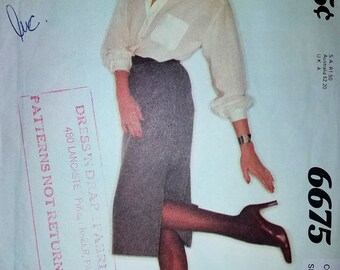 Vintage Sewing Pattern - McCall's #6675, Miss Size C (10-12-14)