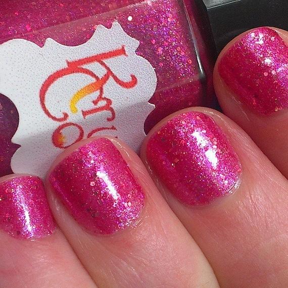 Hot Pink Nail Polish handmade nail polish indie polish
