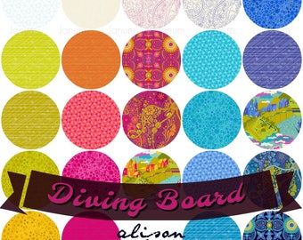 Diving Board fat quarter fabric bundle , collection by Alison Glass for Andover Fabrics - 24 pieces