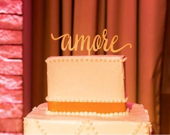 Amore cake topper Etsy