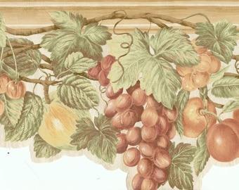 63296230 Berries Fruit Litchen Wallpaper Border
