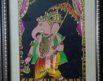 Original handmade Tanjore painting- Ganesha