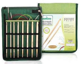 "Knitter's Pride - Bamboo - 6"" IC Aghan/Tunisian Crochet Hook Set- On Sale!"