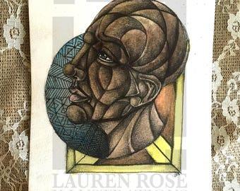 Portrait Painting / Portrait Art / Abstract Portrait Painting