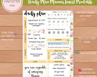 Printable daily plan | Etsy