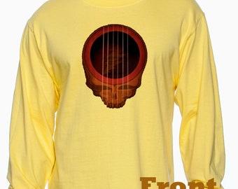 Grateful Dead inspired Acoustic Stealie long sleeve Tee