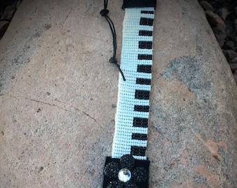 Piano Key cuff bracelet