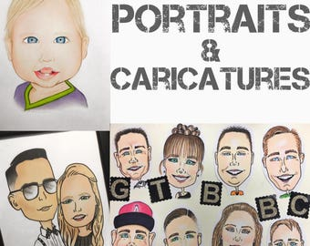 Personalized Caricature & Portrait Drawing