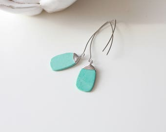 Turquoise  Earrings - Stunning Turquoise dangle earrings