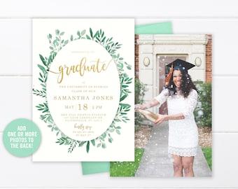college graduation invitation printable high school