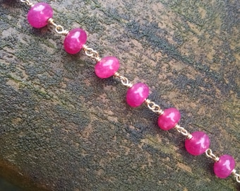 Ruby Rondelle Necklace