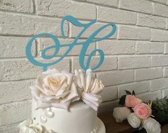 Wedding. Cake topper letter. Cake topper initial. Cake topper glitter. Cake topper gold. Cake topper silver. Wedding sign cake topper