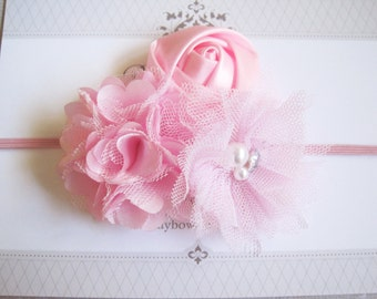 Light Pink Headband, Baby Headbands, Baby Girl Headbands, Baby Girl Headbands, Infant Headbands, Baby Bows