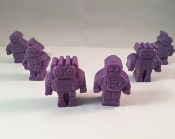 Robot Soaps / Robot Soap / Mini Guest Soap / Set of 6 / 2 oz of Soap / Goat Milk Soap / Baby Shower Favor / Party Favor