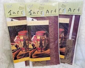 Bal Jar Art Holiday Kit, Pine kerstbomen, DIY cadeau Jar, Set van 3