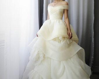 LS10/Katherine/ivory/3D weddingdress / Ballgown