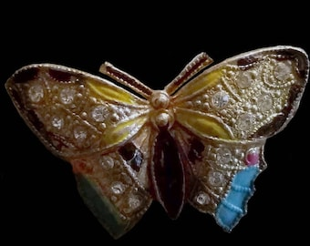 Vintage 1920s Coro Figural Butterfly Scent Scatter Pin Vintage Coro Brooches and Jewelry