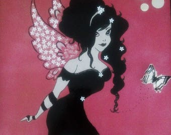 pin-up floral winged fairy table