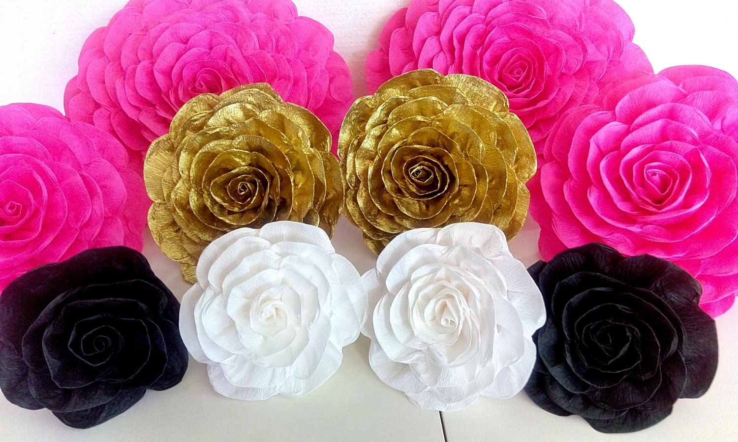 10 large paper flowers giant flowers wall party bridal shower zoom mightylinksfo