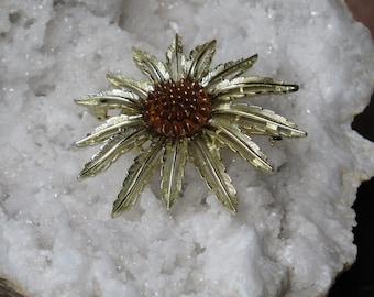SUNFLOWERS / Gold Pin/ Summer Flowers/ Flower Pin/Vintage Brooch / Sunflower Pin / Flower Brooch /  Sunflower / Flower Pin / Vintage Jewelry