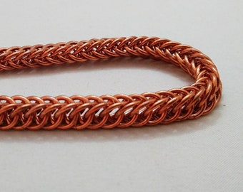 Handmade Chainmail Bracelet 16g Half Persian Solid Copper Maille Jewelry