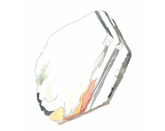 VERMICULITE - print of mineral watercolor painting