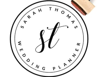 Custom Logo Design Rubber Stamp - Business Logo - Hand Lettered Logo - Custom Stamp for Business, Personal, Weddings, Branding -Choice of 12