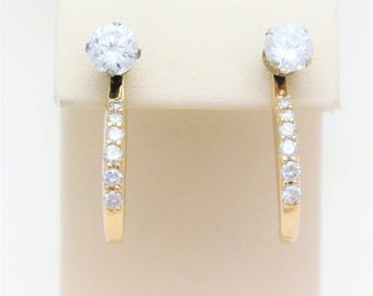 14kt Diamond Dangle Earring Jackets