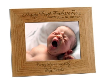 Engraved First Father's Day Photo Frame