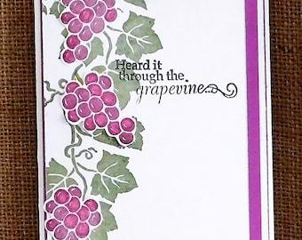 Birthday Card, Homemade, Heard it through the Grapevine