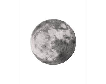 Black and White Moon Poster, Moon Photography Wall Art, Moon Art Prints, Black and White Moon Art Print, Moon Print