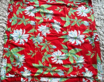 Decor, pillowcase, pillowcase, red large flowers in bright colors