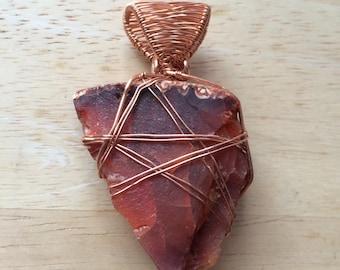 Raw Carnelian Pendant