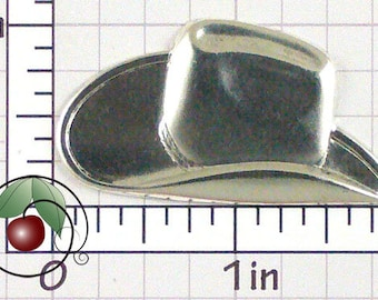 Cowboy Hat Finding Brass Cowboy Hat Stamping, Western Decor, Western Hat Made in USA, Pewter Finish, 1 Pc, 1425po