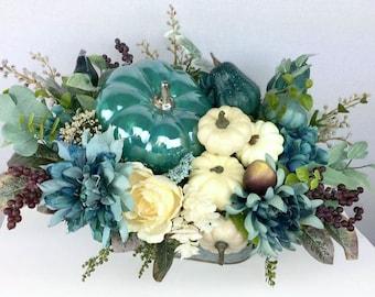 Fall Autumn Arrangement, Centerpiece, Arrangement, Floral, Wreath, Garland, Swag, Fall, Pumpkin, Autumn, Thanksgiving, Fall Decor