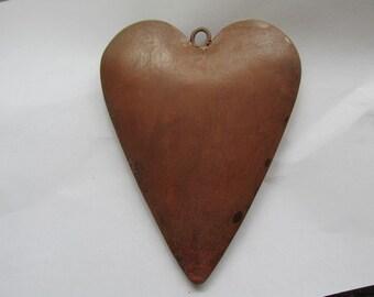 3D Puffy Rusty Rustic heart Ornament #PH-1