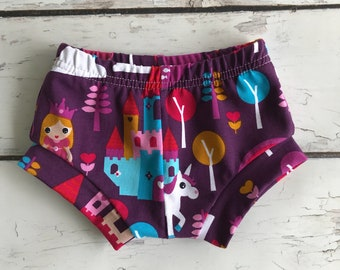 Ready To Ship Baby Shorts - Hipster Baby Shorties - Unicorn Baby Shorts - Modern Kids Shorties - Baby Bummies - Summer Shorties -RTS 3/6m